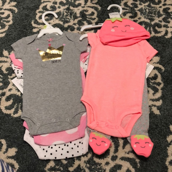 Mixed Items & Lots Set Of 3 Baby Girl Leggings Size 3 Months Carters Okie Dokie